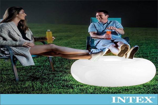 【INTEX】氛圍燈座/充氣腳墊(86x33cm)-室內戶外二用 15160050(68697) 1
